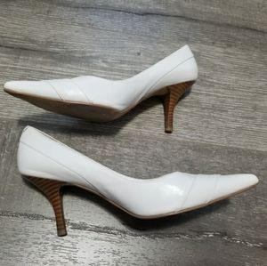 ALDO Shoes White Wooden Heels